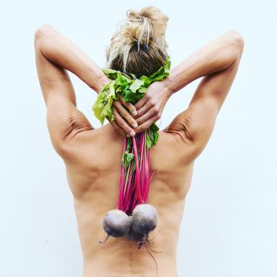 Girl with beetroot